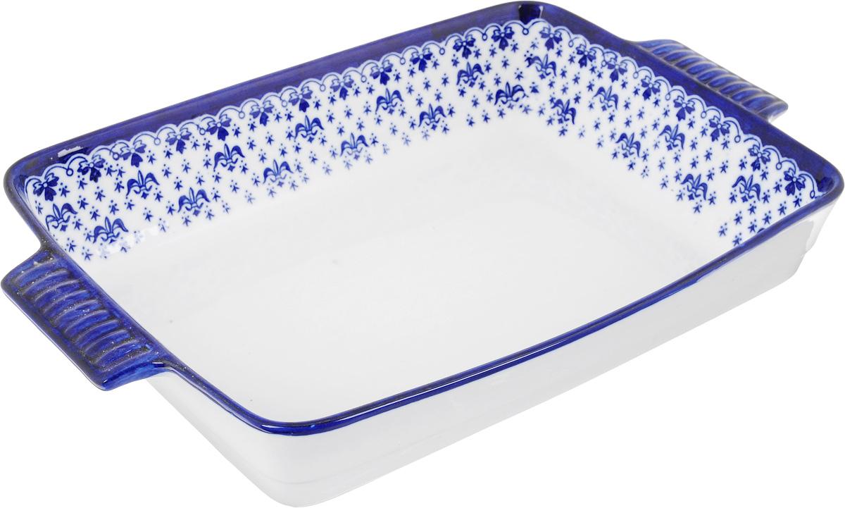Форма для запекания Patricia Валенсия, прямоугольная, 32 х 24,5 смIM04-0701Ни для кого не секрет, что у настоящей хозяйки красивая посуда не только та, в которой она подает свои блюда, но и та, в которой она готовит. Прямоугольная форма для запекания Patricia Валенсия выполнена из жаропрочной керамики и оснащена ручками. Посуда из керамики славится своей прочностью и функциональностью. Приятный глазу дизайн и отменное качество формы будут долго радовать вас, а угощения, приготовленные в этом блюде - ваших гостей. Не рекомендуется использовать в микроволновой печи и посудомоечной машине. Внутренний размер формы: 32 х 24,5 см. Размер формы (с учетом ручек): 38 х 24,5 см. Высота формы: 6,5 см.