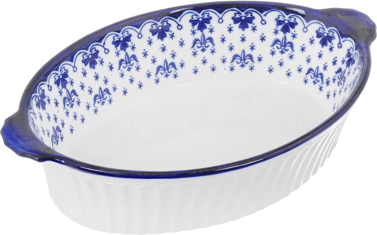 Форма для запекания Patricia Валенсия, овальная, 26 х 19,5 смIM04-0704Ни для кого не секрет, что у настоящей хозяйки красивая посуда не только та, в которой она подает свои блюда, но и та, в которой она готовит. Овальная форма для запекания Patricia Валенсия выполнена из жаропрочной керамики и оснащена ручками. Посуда из керамики славится своей прочностью и функциональностью. Приятный глазу дизайн и отменное качество формы будут долго радовать вас, а угощения, приготовленные в этом блюде - ваших гостей. Не рекомендуется использовать в микроволновой печи и посудомоечной машине. Внутренний размер формы: 26 х 19,5 см. Размер формы (с учетом ручек): 29,5 х 19,5 см. Высота формы: 7 см.