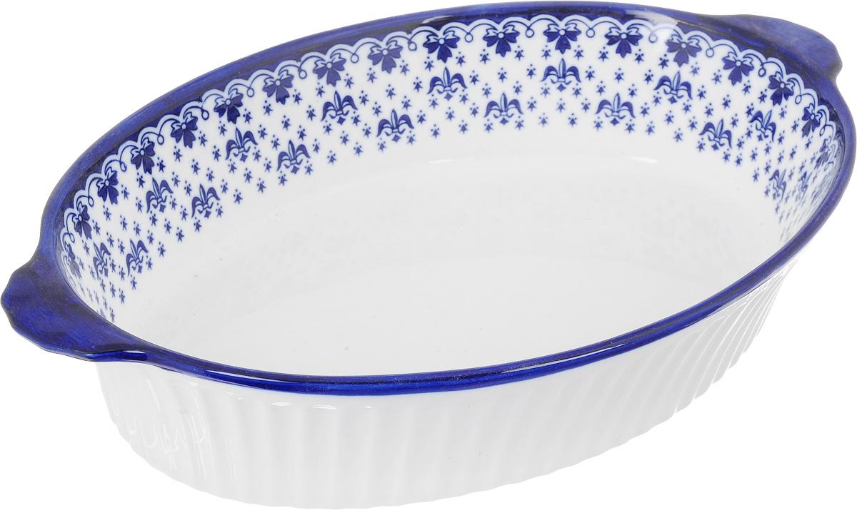 Форма для запекания Patricia Валенсия, овальная, 34,5 х 26 смIM04-0703Ни для кого не секрет, что у настоящей хозяйки красивая посуда не только та, в которой она подает свои блюда, но и та, в которой она готовит. Овальная форма для запекания Patricia Валенсия выполнена из жаропрочной керамики и оснащена ручками. Посуда из керамики славится своей прочностью и функциональностью. Приятный глазу дизайн и отменное качество формы будут долго радовать вас, а угощения, приготовленные в этом блюде - ваших гостей. Не рекомендуется использовать в микроволновой печи и посудомоечной машине. Внутренний размер формы: 34,5 х 26 см. Размер формы (с учетом ручек): 40 х 26 см. Высота формы: 8 см.