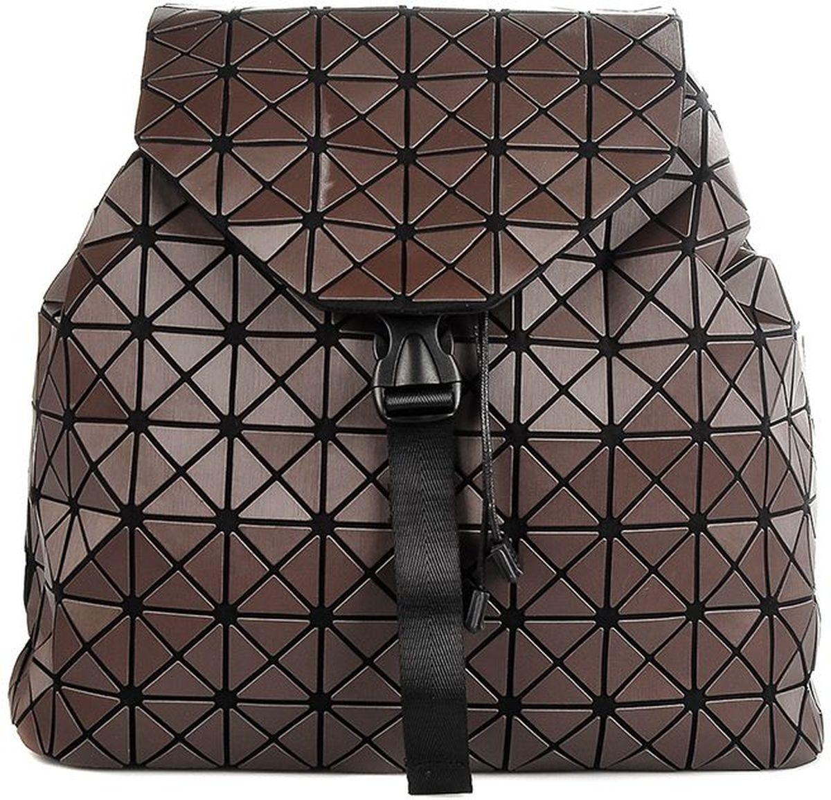 Рюкзак силиконовый Sabellino, цвет: шоколад. 0111016456_110111016456_11Легкий вместительный рюкзак, закрывается на крышку с застежкой, изделие затягивается, что позволит сделать его компактным или более вместительным. Внутри тканевый подклад, карман на молнии для документов, отделения для мелочи и мобильного телефона, уплотненное дно. Мягкие регулируемые лямки.