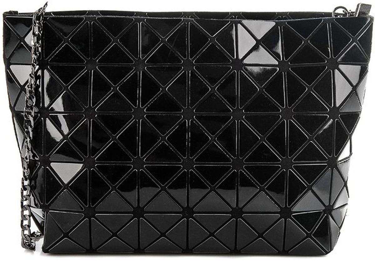 Сумка женская Sabellino, цвет: черный. 0111016460_010111016460_01Вместительная сумка трапециевидной формы, на длинном металлическом ремешке - цепочке, закрывается на молнию с металлическим бегунком, тканевый подклад. Ремешок можно отстегивать, это приносит больше функциональности данному изделию. Длина ремешка 110 см.