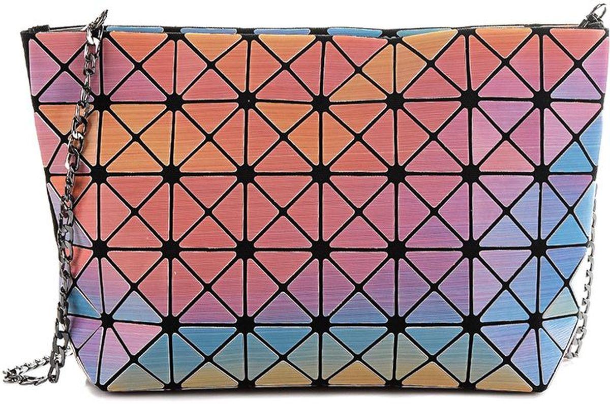 Клатч женский Sabellino, цвет: мультиколор. 0111016460_1000111016460_100Клатч Sabellino изготовлен из силикона на тканевой подкладке. Модель имеет одно отделение, которое закрывается на молнию. Изделие оснащено съемным металлическим ремешком-цепочкой.