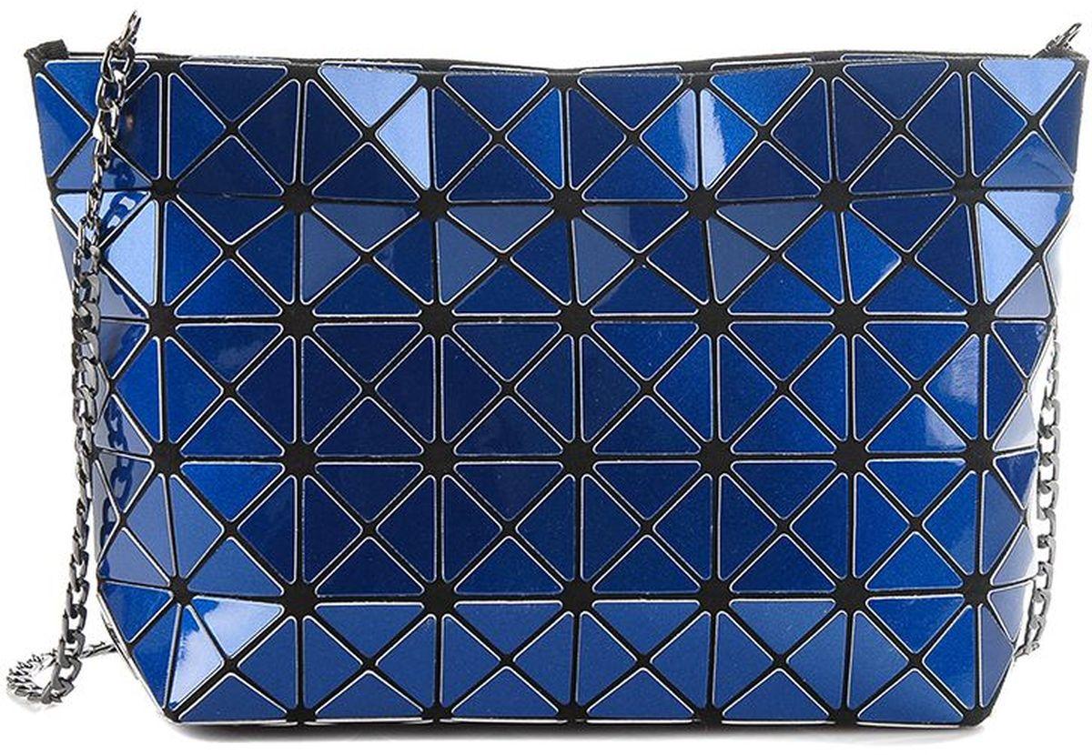 Клатч женский Sabellino, цвет: полуночно-cиний. 0111016460_500111016460_50Клатч Sabellino изготовлен из силикона на тканевой подкладке. Модель имеет одно отделение, которое закрывается на молнию. Изделие оснащено съемным металлическим ремешком-цепочкой.