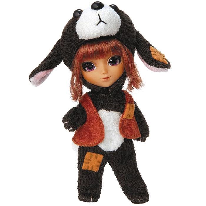 Groove Мини-кукла СобакаGRVF846Мини-кукла Groove Собака - коллекционная фешн кукла. Это миниатюрная версия оригинальной куклы Пуллип, высотой 12 см. С такими же диспропорцией головы и тела, большими глазами и детальным макияжем. У нее полностью отсутствует глазной механизм, но глаза не нарисованные, а вставные и реснички настоящие. Нет шарниров в теле, ручки ножки и талия вращаются лишь в районе крепления к туловищу. В комплект с куклой входит шапка в виде собачьей морды, жилетка и другие аксессуары. Такая кукла станет достойным украшением любой коллекции!