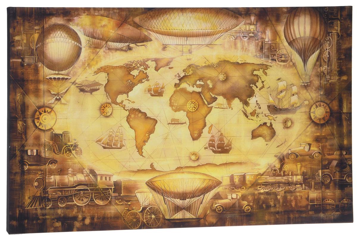 КвикДекор Картина детская Карта путешествий