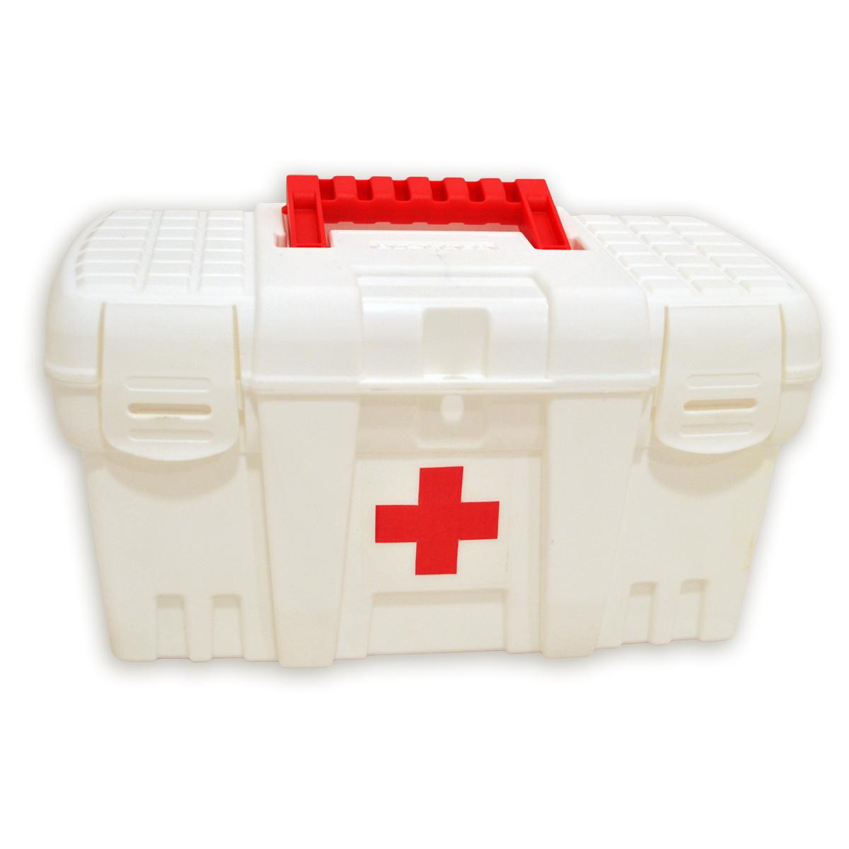 Аптечка Blocker Скорая Помощь, цвет: белый, 265 х 155 х 140 ммBR3749БЛАптечка Blocker Скорая Помощь необходима в каждом доме. Высота аптечки позволяет хранить не только таблетки, но и пузырьки с жидкостью в вертикальном положении. Защелкивающиеся замки препятствуют случайному открытию. Аптечка снабжена петлей для навесного замка для защиты малышей от доступа к лекарствам.