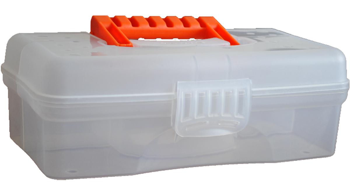 Кофр для хранения Blocker Hobby Box, цвет: прозрачный, 235 х 130 х 80 ммBR3750ПР-18РSВместительные, удобные и компактные органайзеры для мелочей. Функциональные деления внутри органайзера. Удобная складная ручка, крепкая застежка. Подходит для хранения швейных принадлежностей. Также может использоваться в качестве автомобильной и домашней аптечки.