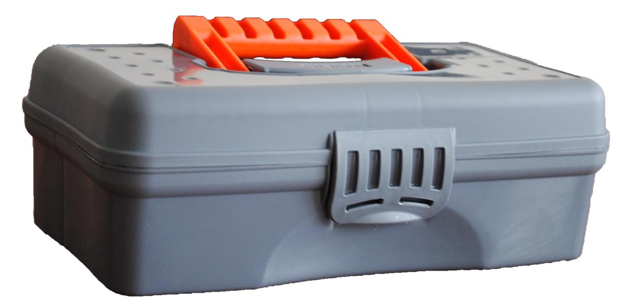 Органайзер Blocker Hobby Box, цвет: серый, оранжевый, 23,5 х 13 х 8 смBR3750СРСВЦОР-18РSОрганайзер Blocker Hobby Box изготовлен из высококачественного прочного пластика и предназначен для хранения и переноски небольших инструментов, рыболовных принадлежностей и различных мелочей. Оснащен 4 секциями. Надежно закрывается при помощи пластмассовой защелки. На крышке имеется ручка для удобной переноски изделия. Размер самой большой секции: 22,5 х 7 х 5,5 см. Размер самой маленькой секции: 6,5 х 4,5 х 5,5 см.