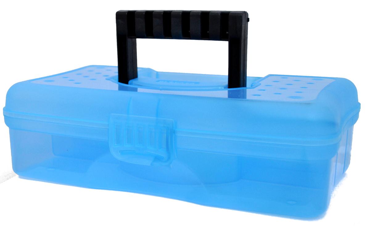Кофр для хранения Blocker Hobby Box, цвет: синий 295 х 180 х 90 ммBR3751МИКСВместительные, удобные и компактные органайзеры для мелочей. Функциональные деления внутри органайзера. Удобная складная ручка, крепкая застежка. Подходит для хранения швейных принадлежностей. Также может использоваться в качестве автомобильной и домашней аптечки.