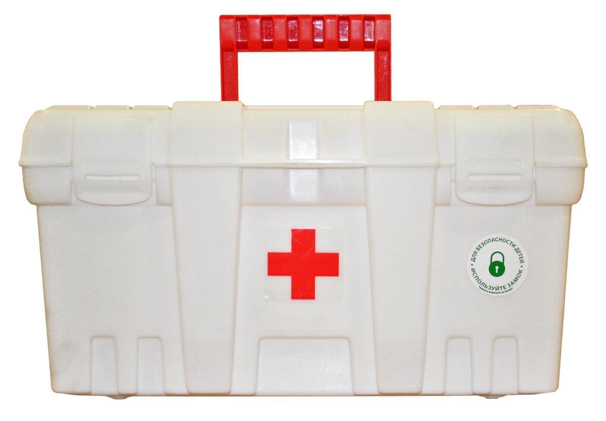 Аптечка Blocker Скорая Помощь, цвет: белая, 380 х 210 х 195 ммBR3756БЛАптечка необходима в каждом доме. Высота аптечки позволяет хранить не только таблетки, но и пузырьки с жидкостью в вертикальном положении. Защелкивающиеся замки препятствуют случайному открытию. Снабжена петлей для навесного замка для защиты малышей от доступа к лекарствам. Аптечка представлена в двух размерах.