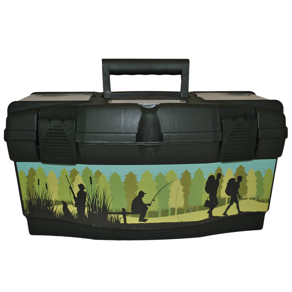 "Ящик для инструментов Blocker ""Master Tour. Рыбак"", цвет: темно-зеленый, 485 х 250 х 245 мм BR3794ТЗЛ-Рыбак"
