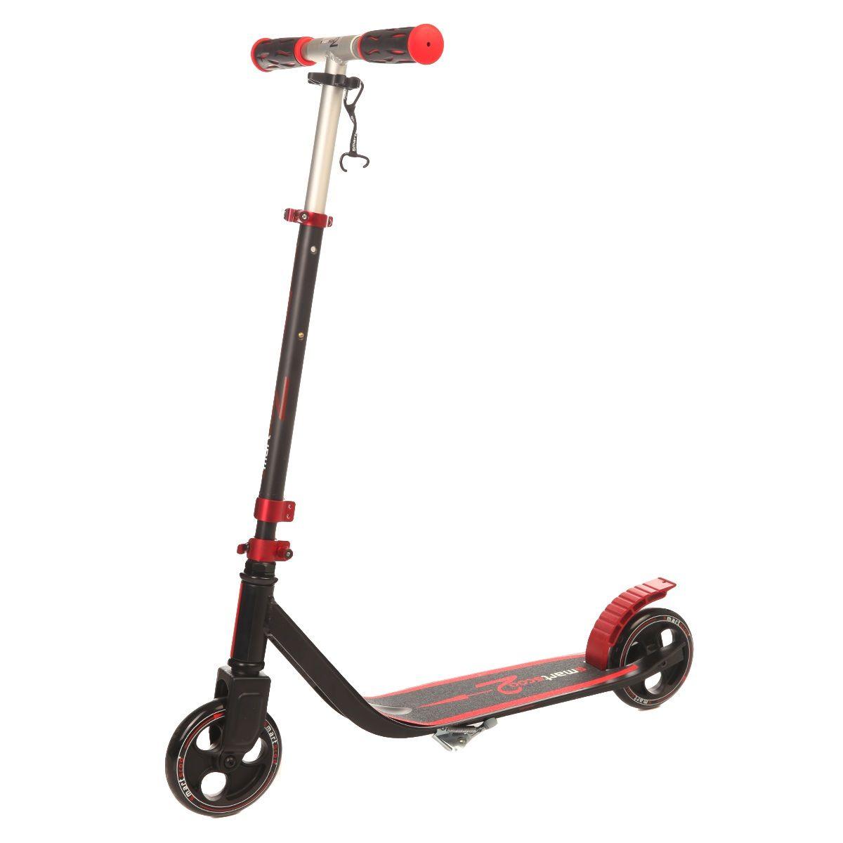 Самокат Fun4u Smartscoo, цвет: красный, черныйMS-190-13-2Складывающийся самокат для детей и взрослых. Колеса: 145 мм, цветные Подшипники: abec 5 Алюминий с защитно-декоративным оксидным покрытием Максимальная нагрузка - 100 кг Удобная раскладывающаяся система Вес- 3,4 кг