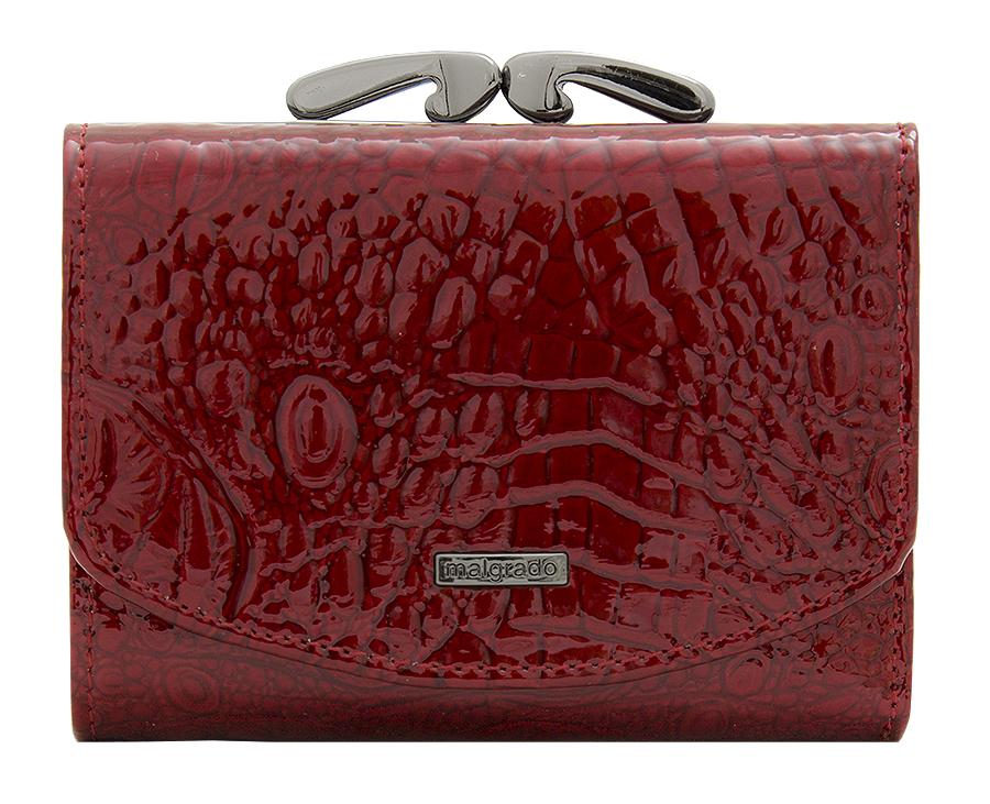 Кошелек женский Malgrado, цвет: красный. 43022-0170143022-01701# Red Кошелек Мал. MalgradoСтильный кошелек Malgrado изготовлен из натуральной кожи красного цвета высшего качества. Внутри два глубоких кармана для купюр, один карман на молнии, два кармашка для визиток, один пластиковый кармашек для фото, два небольших кармашка для разных мелочей, один небольшой кармашек на молнии и карман на кнопке для мелочи. Сзади расположен карман на рамочном замке. Кошелек закрывается на кнопку. Кошелек упакован в коробку из плотного картона с логотипом фирмы. Такой кошелек станет замечательным подарком человеку, ценящему качественные и практичные вещи.