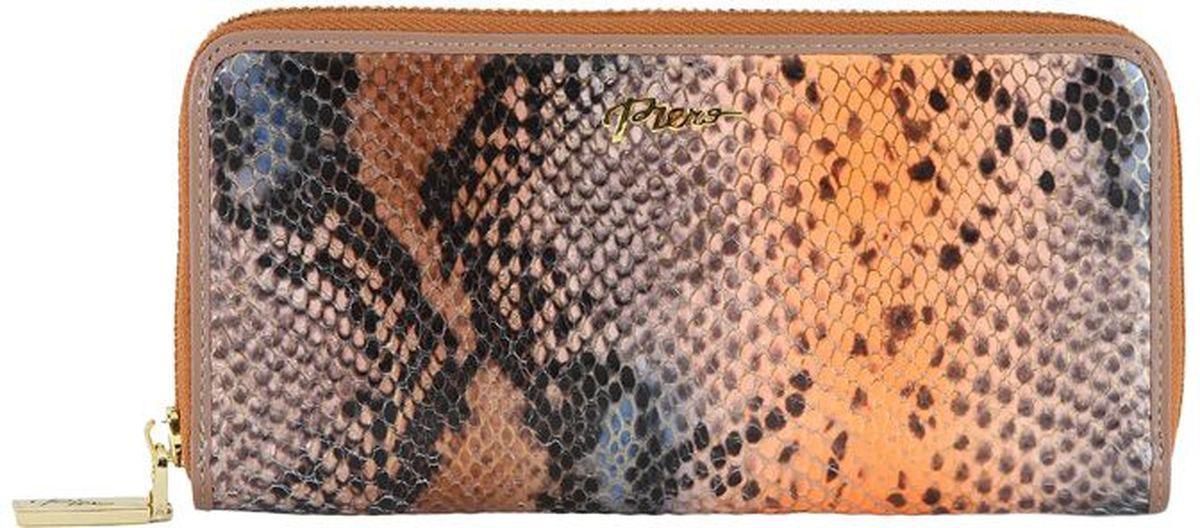 Портмоне женское Piero, цвет: кофе. 42ПЖБ_90063_60_1309П_1042ПЖБ_90063_60_1309П_10Модель выполнена из высококачественной гладкой натуральной кожи. Два отделения.