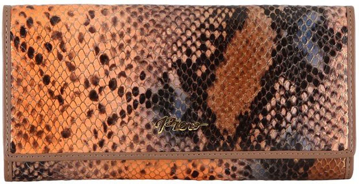 Портмоне женское Piero, цвет: шоколад. 42ПЖБ_90063_60_1309П_1142ПЖБ_90063_60_1309П_11Модель выполнена из высококачественной гладкой натуральной кожи. Два отделения.