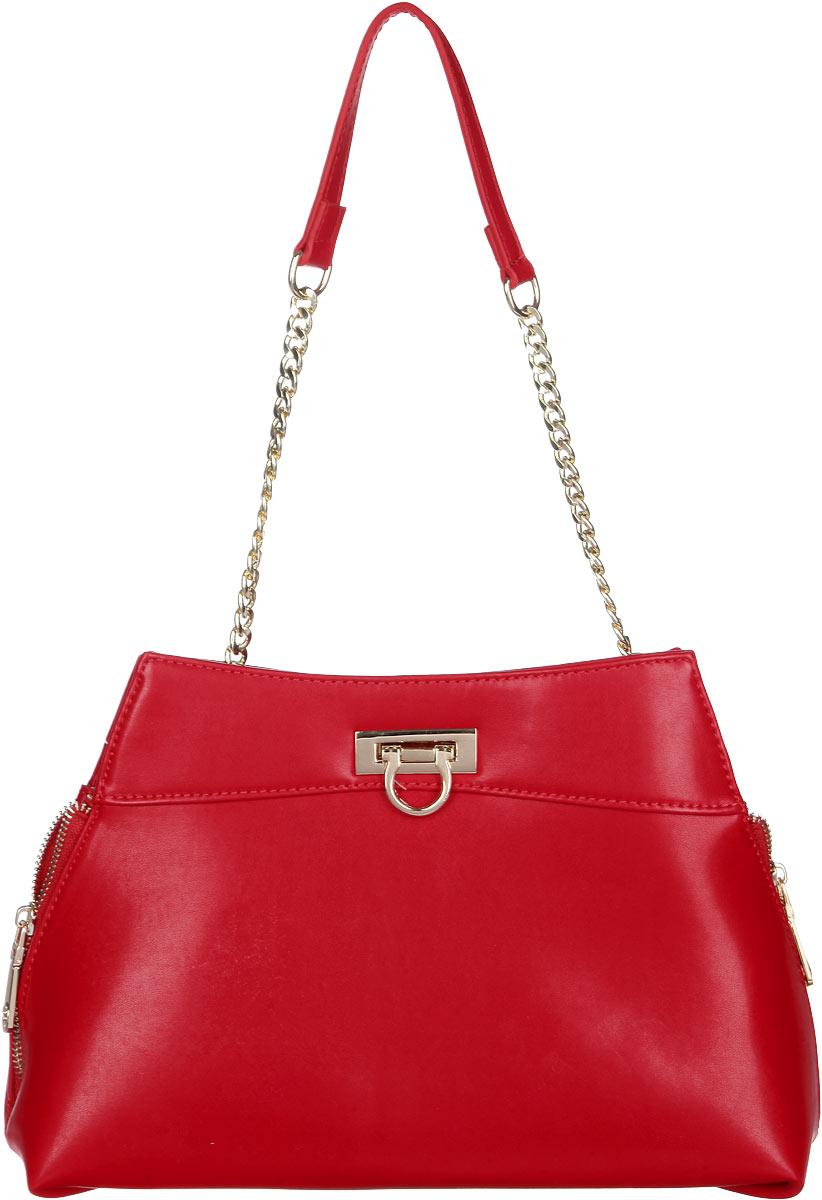 Сумка женская Calipso, цвет: красный. 823-041286-172823-041286-172Прелестная женская сумка Calipso выполнена из искусственной кожи. Изделие имеет одно основное отделение. Внутри находятся два накладных открытых кармана и прорезной карман на застежке-молнии. Закрывается сумка на застежку-защелку. Снаружи, на задней стенке расположен прорезной карман на застежке-молнии. Изделие оснащено одной съемной длинной ручкой. В комплект входит съемный наплечный регулируемый ремень. Боковые стороны дополнены застежками-молниями. Роскошная сумка внесет элегантные нотки в ваш образ и подчеркнет ваше отменное чувство стиля.