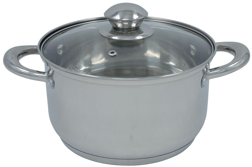 Кастрюля Bohmann, 3,5 л.0805-20BH0805-20BHКастрюля из нержавеющей стали со стеклянной крышкой. Капсульное дно. Объем 3,5л. Подходит для индукционных плит. Без индивидуальной упаковки