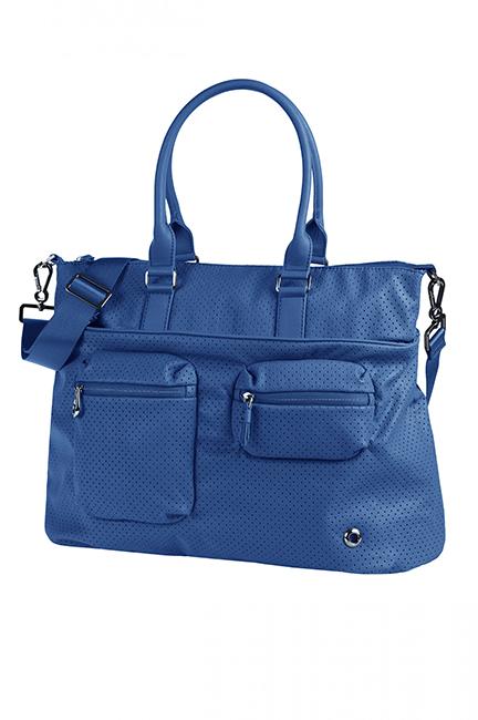 Сумка женская Samsonite, цвет: синий. 93V-3100893V-31008Женская сумка Samsonite изготовлена из полиуретана и оформлена металлической фурнитурой. Изделие содержит одно основное отделение, закрывающееся на застежку-молнию. Внутри отделения расположены два накладных кармашка для мелочей и врезной карман на молнии. Лицевая сторона сумки дополнена вместительным карманом на молнии и двумя объемными кармашками, каждый из которых закрывается на молнию. На задней стороне изделия расположен карман на застежке-молнии. Сумка оснащена двумя удобными ручками и наплечным ремнем регулируемой длины.