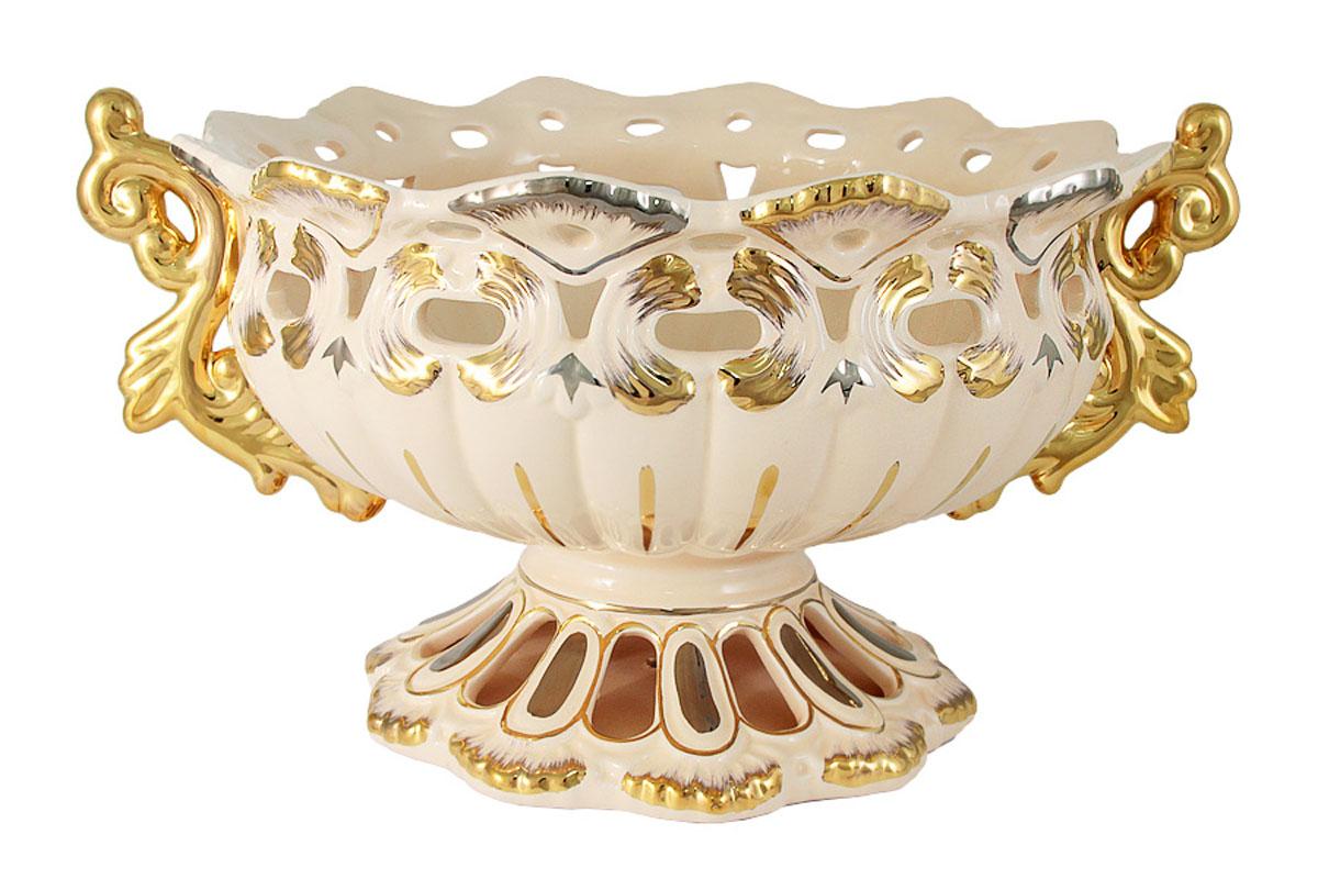 Декоративная ваза Babyzon Dynasty АжурBD076-XH-ALКомпания Babyzon Dynasty основана в 2007 году в Китае. В ассортименте компании представлены предметы украшения интерьера из керамики. Декоративные вазы, блюда, тарелки, подсвечники, настольные часы выполнены в стиле ампир и барокко и напоминают пышное убранство дворцов французских королей 18 века. Практически за 10 лет существования, компания успела наработать серьезный производственный опыт и создать коллекции, отличающиеся прекрасным качеством и приемлемой ценой. Состав:керамика.Обязательной сертификации не подлежит.Протирать сухой/влажной салфеткой.