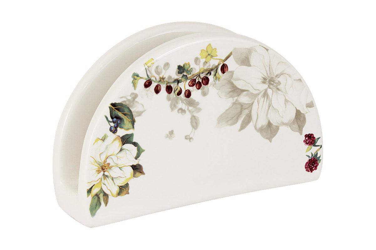 Салфетница Imari Магнолия, 16 х 5 х 10 смIM65080-A2119ALСалфетница Imari Магнолия выполнена из высококачественной керамики и украшена изображением цветов. Салфетница идеально подойдет для украшения стола и станет отличным подарком к любому празднику. Элегантный дизайн салфетницы придется по вкусу и ценителям классики, и тем, кто предпочитает современный стиль.
