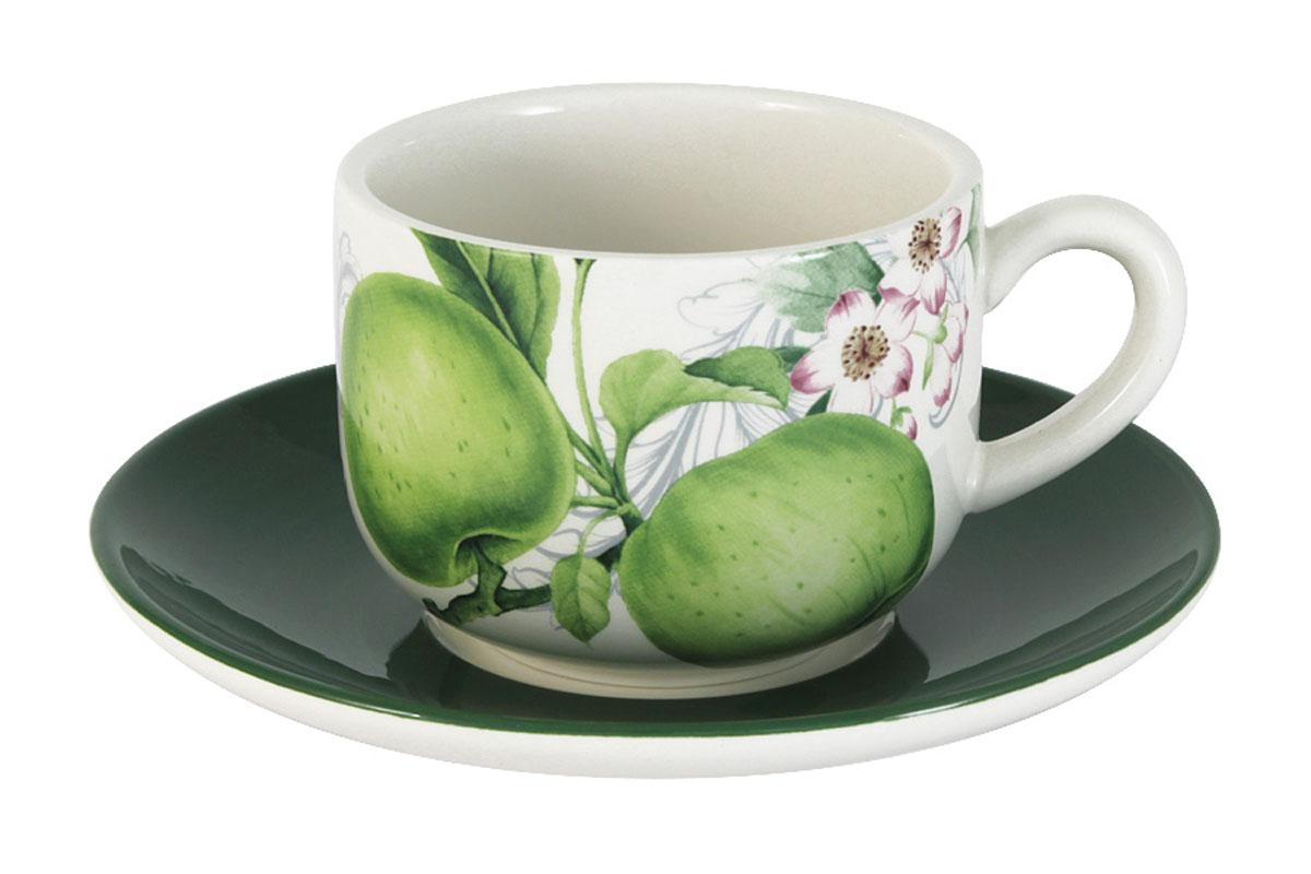 Чашка с блюдцем Infinity Зеленые яблокиINFEX-C005-GA-ALВсе изделия находятся в подарочной упаковке, что позволяет им стать хорошим подарком. Для изготовления посуды Infinity используется высококачественная доломитовая керамика, отличительной особенностью которой являются легкость и белизна. Яркие декоры на такой керамике выглядят особенно привлекательно. Не рекомендуется использовать посуду Infinity в микроволновых печах для приготовления блюд, поскольку эта керамика не выдерживает температур выше 150С. Мыть - в теплой воде с применением мягких моющих средств. Не стоит часто использовать посудомоечную машину, поскольку при постоянном мытье в ней рисунок может потерять свою яркость.