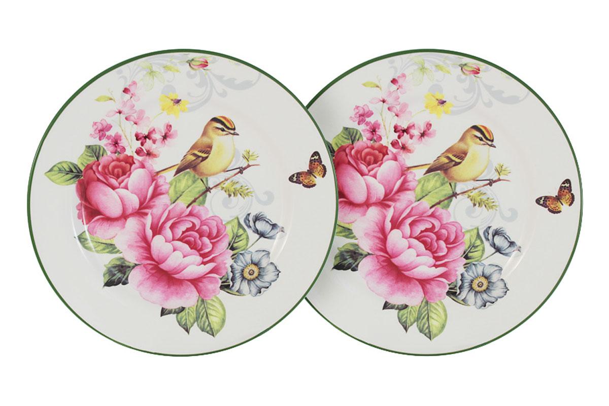 Набор из двух тарелок Infinity Цветы и птицыINFEX-C045-FB-ALВсе изделия находятся в подарочной упаковке, что позволяет им стать хорошим подарком. Для изготовления посуды Infinity используется высококачественная доломитовая керамика, отличительной особенностью которой являются легкость и белизна. Яркие декоры на такой керамике выглядят особенно привлекательно. Не рекомендуется использовать посуду Infinity в микроволновых печах для приготовления блюд, поскольку эта керамика не выдерживает температур выше 150С. Мыть - в теплой воде с применением мягких моющих средств. Не стоит часто использовать посудомоечную машину, поскольку при постоянном мытье в ней рисунок может потерять свою яркость.