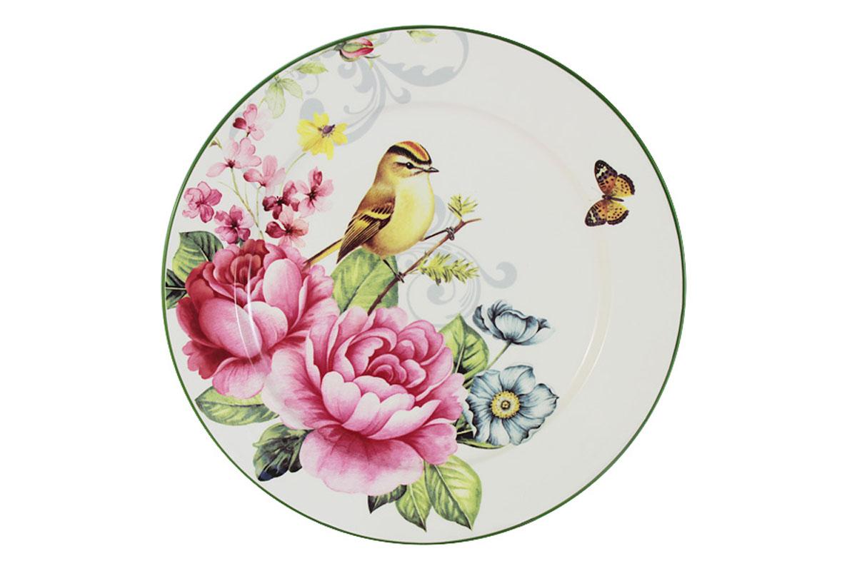 Тарелка обеденная Infinity Цветы и птицыINFEX-C046-FB-ALВсе изделия находятся в подарочной упаковке, что позволяет им стать хорошим подарком. Для изготовления посуды Infinity используется высококачественная доломитовая керамика, отличительной особенностью которой являются легкость и белизна. Яркие декоры на такой керамике выглядят особенно привлекательно. Не рекомендуется использовать посуду Infinity в микроволновых печах для приготовления блюд, поскольку эта керамика не выдерживает температур выше 150С. Мыть - в теплой воде с применением мягких моющих средств. Не стоит часто использовать посудомоечную машину, поскольку при постоянном мытье в ней рисунок может потерять свою яркость.
