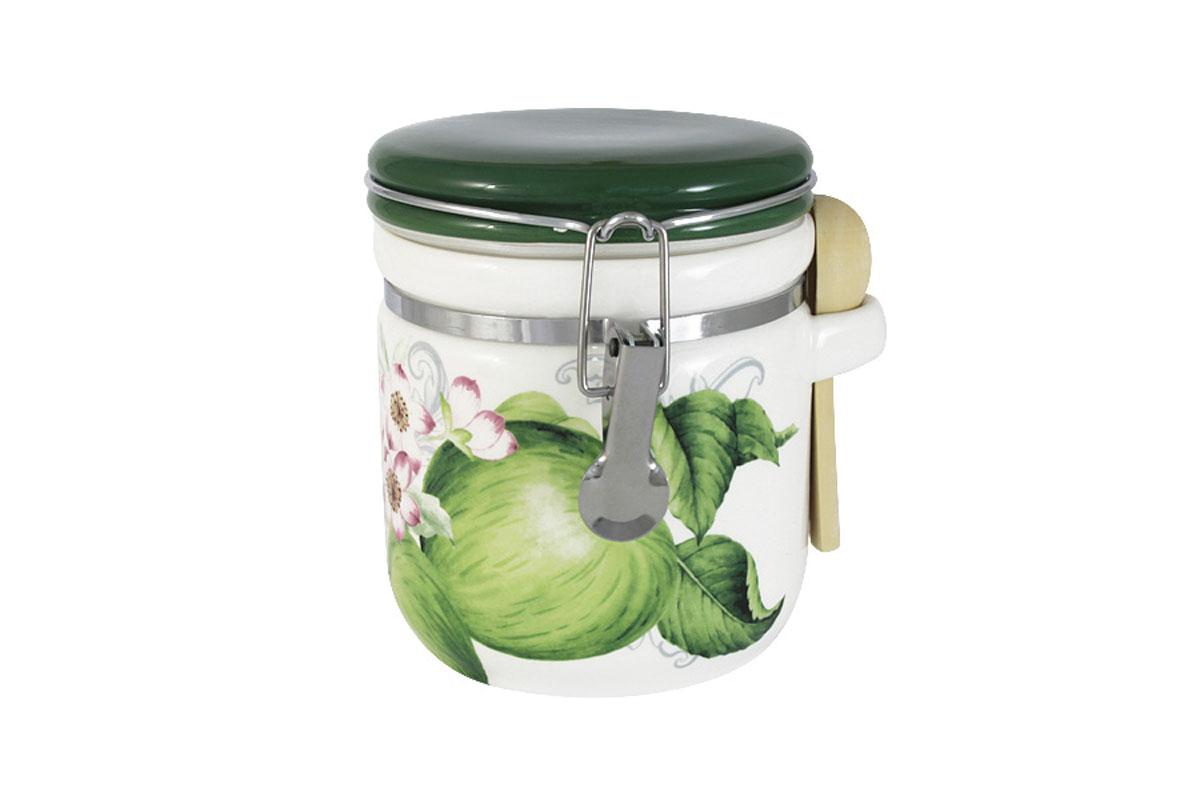 Банка для сыпучих продуктов Infinity Зеленые яблокиINFEX-C107-GA-ALВсе изделия находятся в подарочной упаковке, что позволяет им стать хорошим подарком. Для изготовления посуды Infinity используется высококачественная доломитовая керамика, отличительной особенностью которой являются легкость и белизна. Яркие декоры на такой керамике выглядят особенно привлекательно. Не рекомендуется использовать посуду Infinity в микроволновых печах для приготовления блюд, поскольку эта керамика не выдерживает температур выше 150С. Мыть - в теплой воде с применением мягких моющих средств. Не стоит часто использовать посудомоечную машину, поскольку при постоянном мытье в ней рисунок может потерять свою яркость.