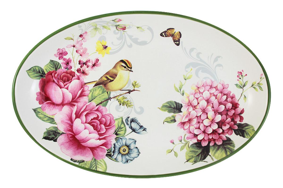 Блюдо овальное Infinity Цветы и птицыINFOH072-FB-ALВсе изделия находятся в подарочной упаковке, что позволяет им стать хорошим подарком. Для изготовления посуды Infinity используется высококачественная доломитовая керамика, отличительной особенностью которой являются легкость и белизна. Яркие декоры на такой керамике выглядят особенно привлекательно. Не рекомендуется использовать посуду Infinity в микроволновых печах для приготовления блюд, поскольку эта керамика не выдерживает температур выше 150С. Мыть - в теплой воде с применением мягких моющих средств. Не стоит часто использовать посудомоечную машину, поскольку при постоянном мытье в ней рисунок может потерять свою яркость.