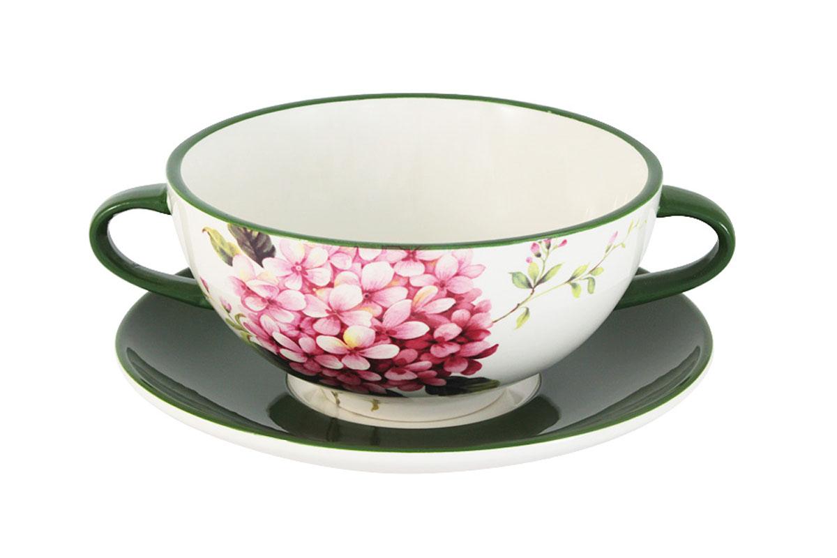 Суповая чашка на блюдце Infinity Цветы и птицыINFOH427-FB-ALВсе изделия находятся в подарочной упаковке, что позволяет им стать хорошим подарком. Для изготовления посуды Infinity используется высококачественная доломитовая керамика, отличительной особенностью которой являются легкость и белизна. Яркие декоры на такой керамике выглядят особенно привлекательно. Не рекомендуется использовать посуду Infinity в микроволновых печах для приготовления блюд, поскольку эта керамика не выдерживает температур выше 150С. Мыть - в теплой воде с применением мягких моющих средств. Не стоит часто использовать посудомоечную машину, поскольку при постоянном мытье в ней рисунок может потерять свою яркость.