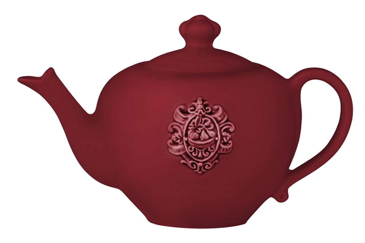 Чайник Nuova Cer Аральдо, цвет: бордовый