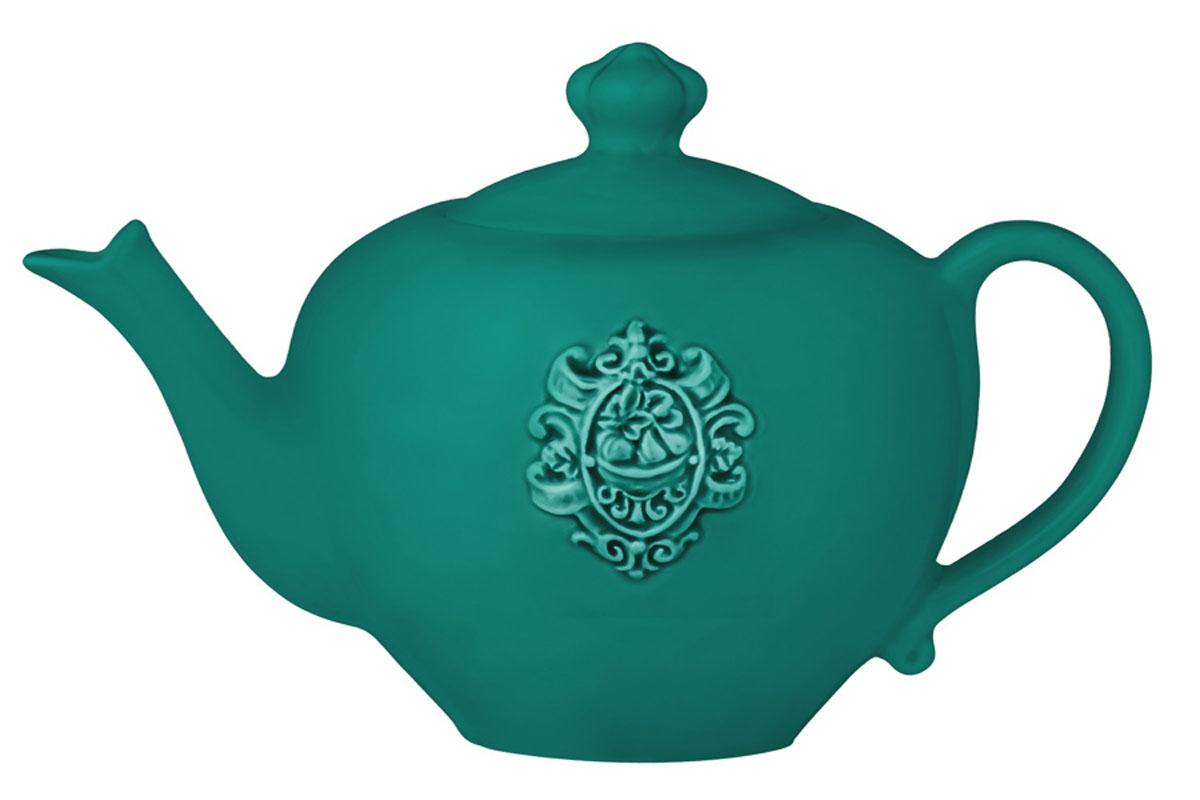 Чайник Nuova Cer Аральдо, цвет: бирюзовый
