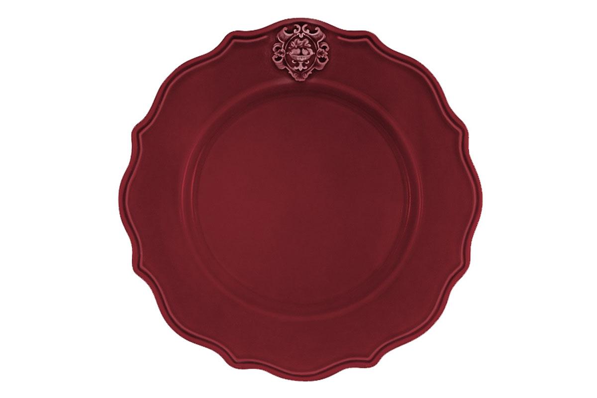 Тарелка обеденная Nuova Cer Аральдо, цвет: бордовыйNC8310/2-RNO-ALДекорам торговой марки Nuova Сer присущи тёплые оттенки и верность истинно итальянскому стилю, для которого характерным является довольно толстая, нарочито простая керамическая посуда с красочной, яркой глазурью, с наивной росписью и орнаментами. Ее с легкостью можно подобрать в тон интерьеру кухни. Состав:керамика.Мыть мягкими моющими средствами. Не рекомендуется использовать посуду в микроволновой печи и мыть в посудомоечной машине.