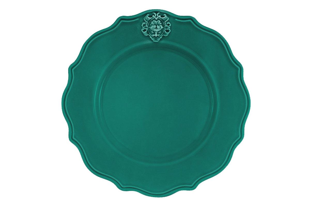 Тарелка обеденная Nuova Cer Аральдо, цвет: бирюзовыйNC8310/2-VAM-ALДекорам торговой марки Nuova Сer присущи тёплые оттенки и верность истинно итальянскому стилю, для которого характерным является довольно толстая, нарочито простая керамическая посуда с красочной, яркой глазурью, с наивной росписью и орнаментами. Ее с легкостью можно подобрать в тон интерьеру кухни. Состав:керамика.Мыть мягкими моющими средствами. Не рекомендуется использовать посуду в микроволновой печи и мыть в посудомоечной машине.