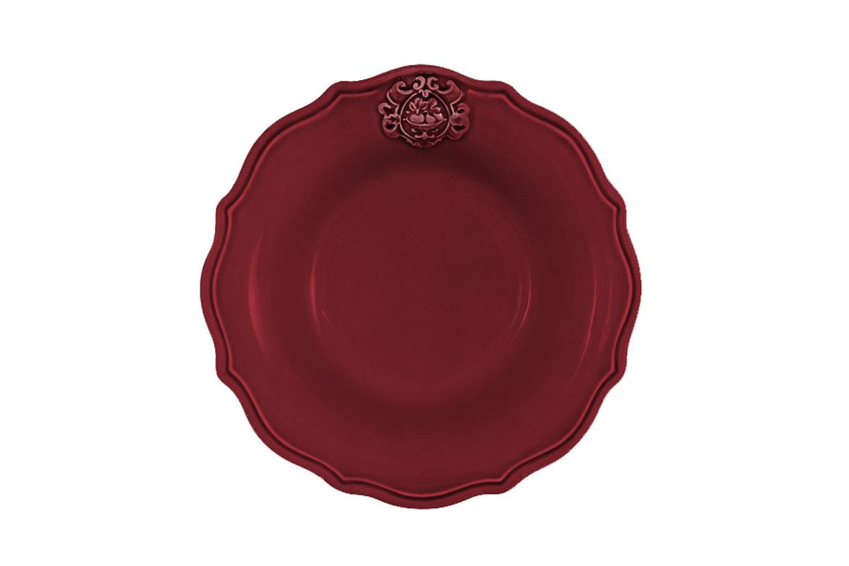 Тарелка суповая Nuova Cer Аральдо, цвет: бордовыйNC8310/3-RNO-ALДекорам торговой марки Nuova Сer присущи тёплые оттенки и верность истинно итальянскому стилю, для которого характерным является довольно толстая, нарочито простая керамическая посуда с красочной, яркой глазурью, с наивной росписью и орнаментами. Ее с легкостью можно подобрать в тон интерьеру кухни. Состав:керамика.Мыть мягкими моющими средствами. Не рекомендуется использовать посуду в микроволновой печи и мыть в посудомоечной машине.