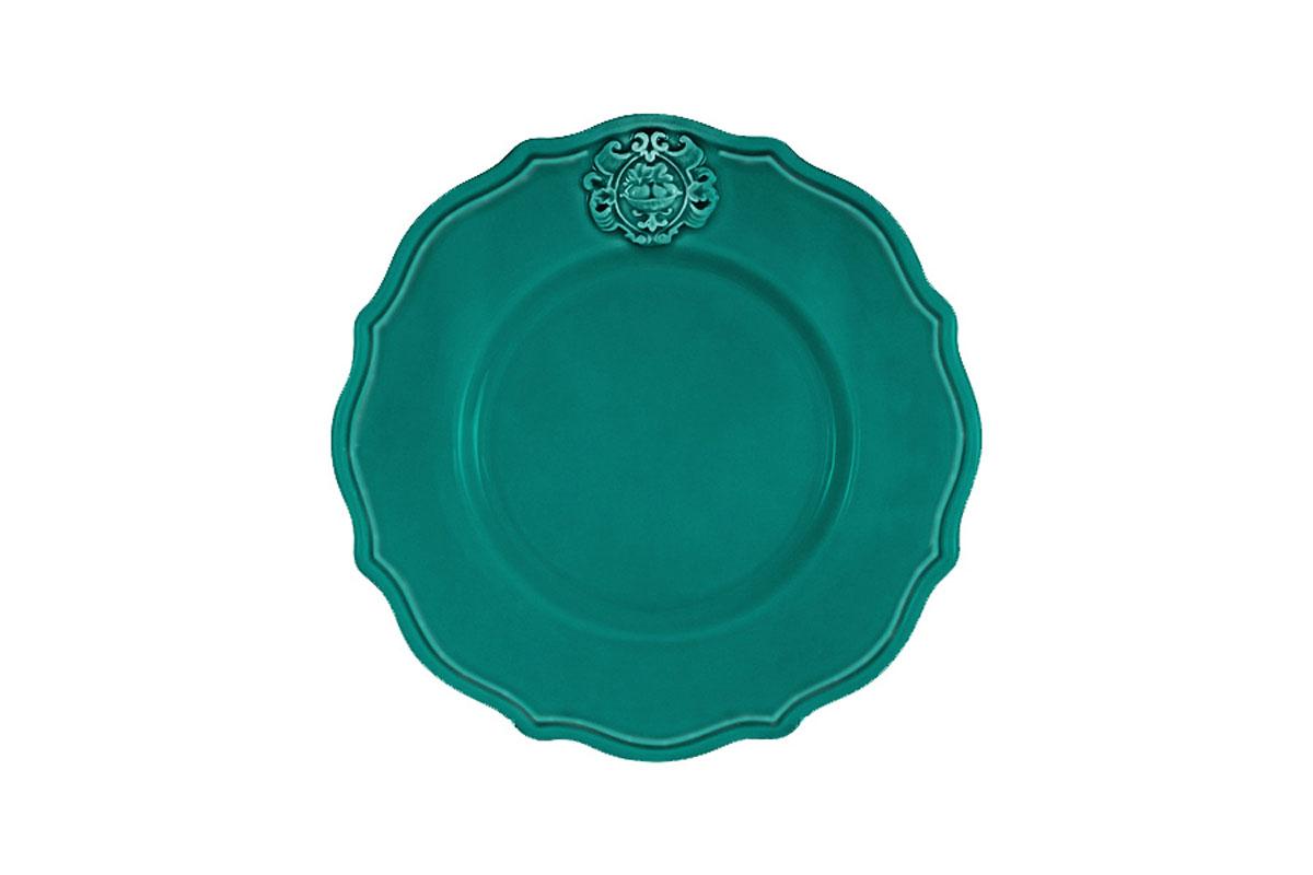 Тарелка закусочная Nuova Cer Аральдо, цвет: бирюзовый