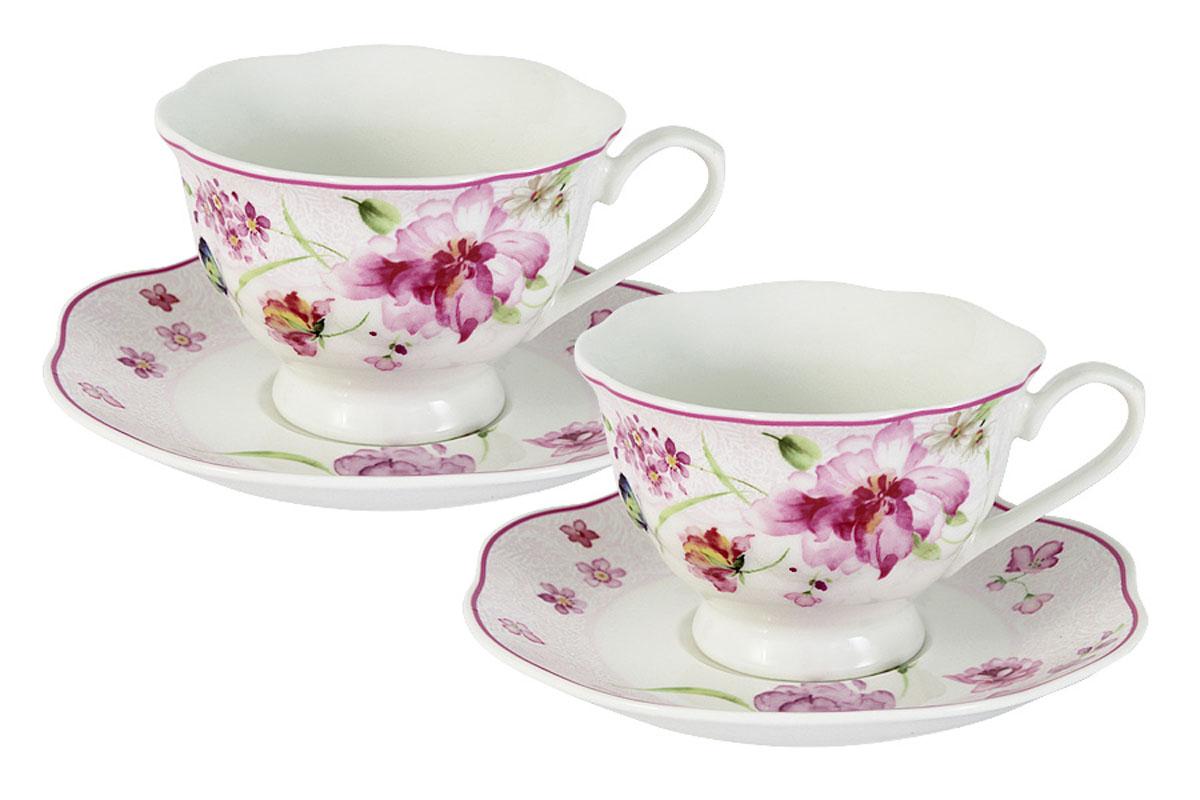 Набор Primavera Decor Розовые цветы, 2 чашки + 2 блюдцаPW-15-412B-ALОбеденные и чайные сервизы торговой марки Primavera изготовлены из фарфора с добавлением костной золы (7-15%), благодаря которой фарфор получается прозрачным и прочным. Посуда подходит для ежедневного инспользования, благодаря отсутствию серебряной и золотой отделки посуду можно мыть в посудомоечной машине, а также использовать в микроволновой печи.