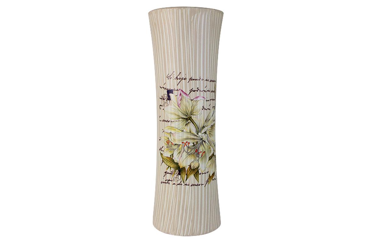 Ваза для цветов Sunrise Ceramics Лилии, прямая, большаяSR-17305-3A-ALИзготовленные по классической технологии обжига керамики с нанесением декоративных рисунков, вазы Sunrise Ceramics отличаются оригинальностью форм, размеров и дизайна. Умело подобранная керамическая ваза может оживить любой интерьер, стать полезной и по-настоящему памятной вещью. Состав:керамика. Изделия обязательной сертификации не подлежат.Мыть теплой водой с применением жидких мощих средств.