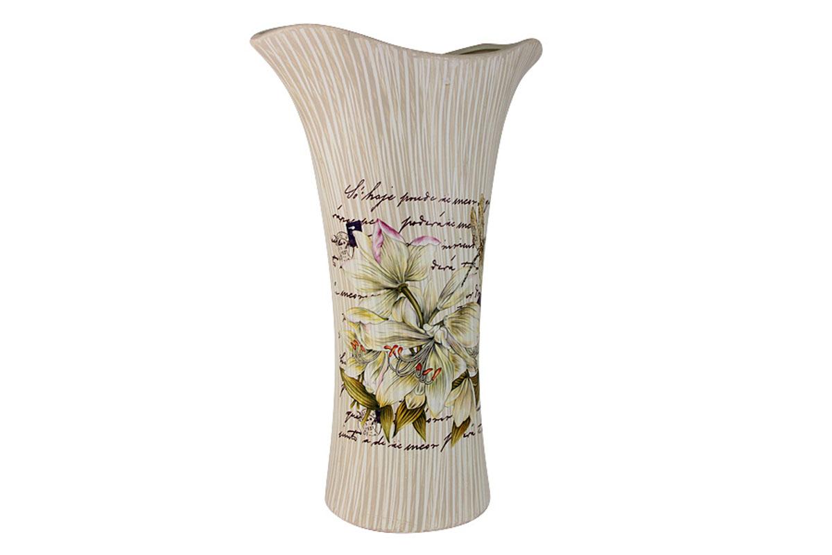 Ваза для цветов Sunrise Ceramics Лилии, кувшинка, большаяSR-17321-3A-ALИзготовленные по классической технологии обжига керамики с нанесением декоративных рисунков, вазы Sunrise Ceramics отличаются оригинальностью форм, размеров и дизайна. Умело подобранная керамическая ваза может оживить любой интерьер, стать полезной и по-настоящему памятной вещью. Состав:керамика. Изделия обязательной сертификации не подлежат.Мыть теплой водой с применением жидких мощих средств.