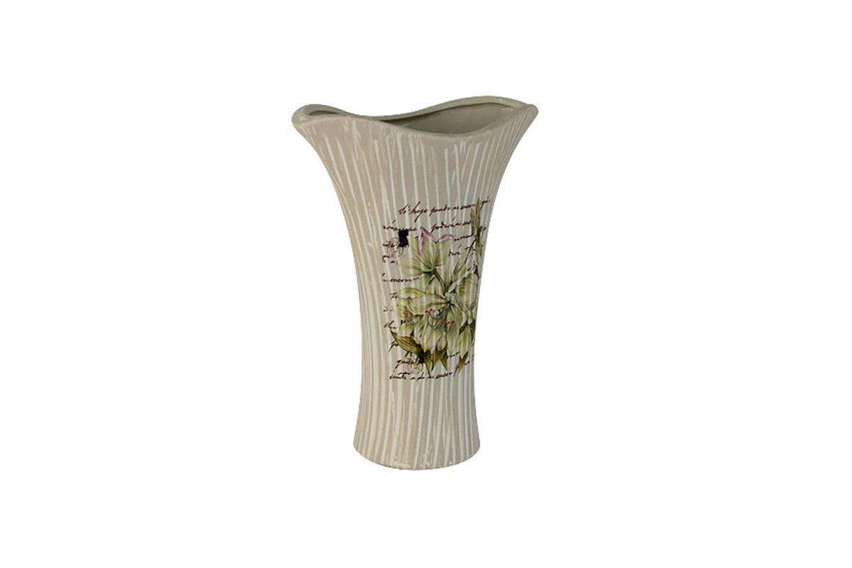 Ваза для цветов Sunrise Ceramics Лилии, кувшинка, малаяSR-17321-3C-ALИзготовленные по классической технологии обжига керамики с нанесением декоративных рисунков, вазы Sunrise Ceramics отличаются оригинальностью форм, размеров и дизайна. Умело подобранная керамическая ваза может оживить любой интерьер, стать полезной и по-настоящему памятной вещью. Состав:керамика. Изделия обязательной сертификации не подлежат.Мыть теплой водой с применением жидких мощих средств.