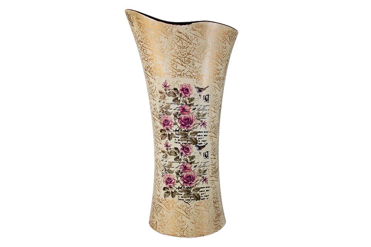 Ваза для цветов Sunrise Ceramics Розы, волна, большаяSR-17450-3A-ALИзготовленные по классической технологии обжига керамики с нанесением декоративных рисунков, вазы Sunrise Ceramics отличаются оригинальностью форм, размеров и дизайна. Умело подобранная керамическая ваза может оживить любой интерьер, стать полезной и по-настоящему памятной вещью. Состав:керамика. Изделия обязательной сертификации не подлежат.Мыть теплой водой с применением жидких мощих средств.