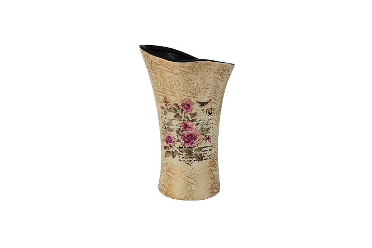 Ваза для цветов Sunrise Ceramics Розы, волна, малаяSR-17450-3C-ALИзготовленные по классической технологии обжига керамики с нанесением декоративных рисунков, вазы Sunrise Ceramics отличаются оригинальностью форм, размеров и дизайна. Умело подобранная керамическая ваза может оживить любой интерьер, стать полезной и по-настоящему памятной вещью. Состав:керамика. Изделия обязательной сертификации не подлежат.Мыть теплой водой с применением жидких мощих средств.