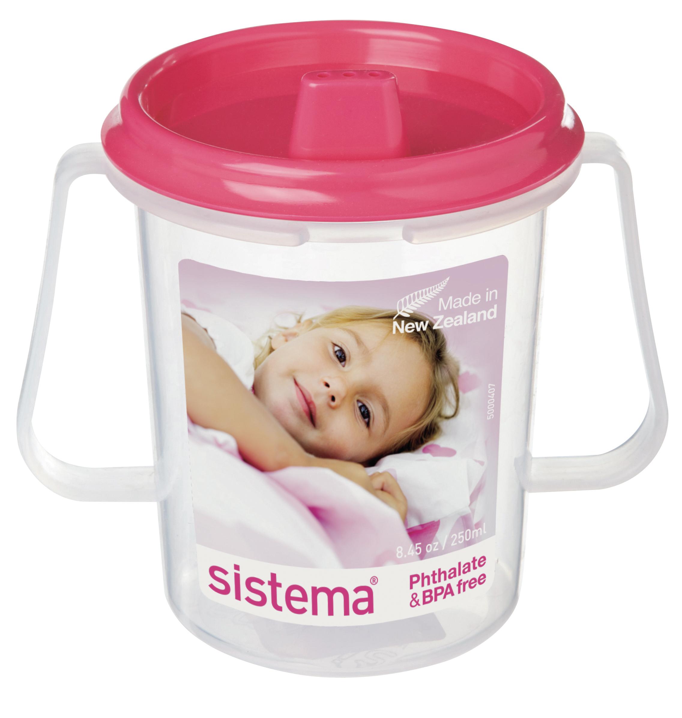 Чашка детская Sistema, с носиком, цвет: малиновый, 250 мл67_малиновый