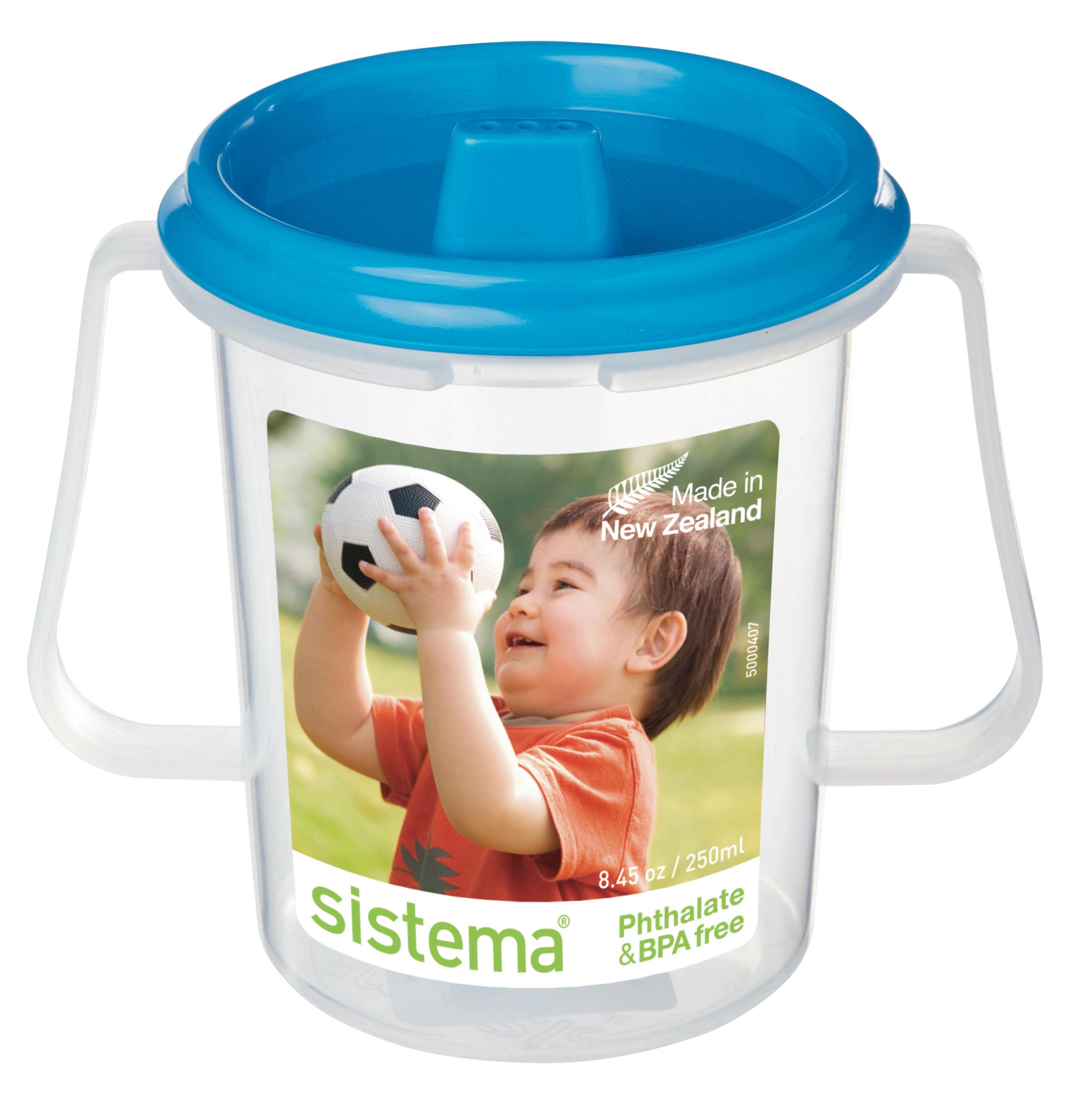 Чашка детская Sistema, с носиком, цвет: голубой, 250 мл67_голубой