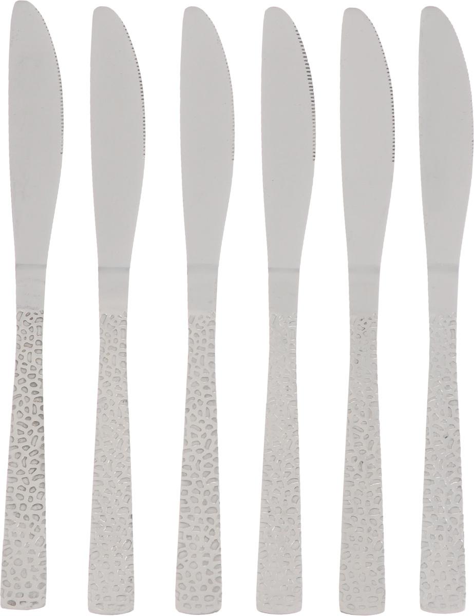 Набор столовых ножей Empire of Dishes Дэмиль, 6 штIM99-0319Набор столовых ножей Empire of Dishes Дэмиль выполнен из высококачественной нержавеющей стали в классическом стиле. Поверхность - гладкая. Лезвие - зубчатое. Столовые ножи Empire of Dishes Дэмиль прекрасно подходят для сервировки стола как в домашнем быту, так и в профессиональных заведениях - кафе, ресторанах. Не рекомендуется мыть в посудомоечной машине и использовать в микроволновой печи. Длина ножа: 22 см. Длина лезвия: 10 см.