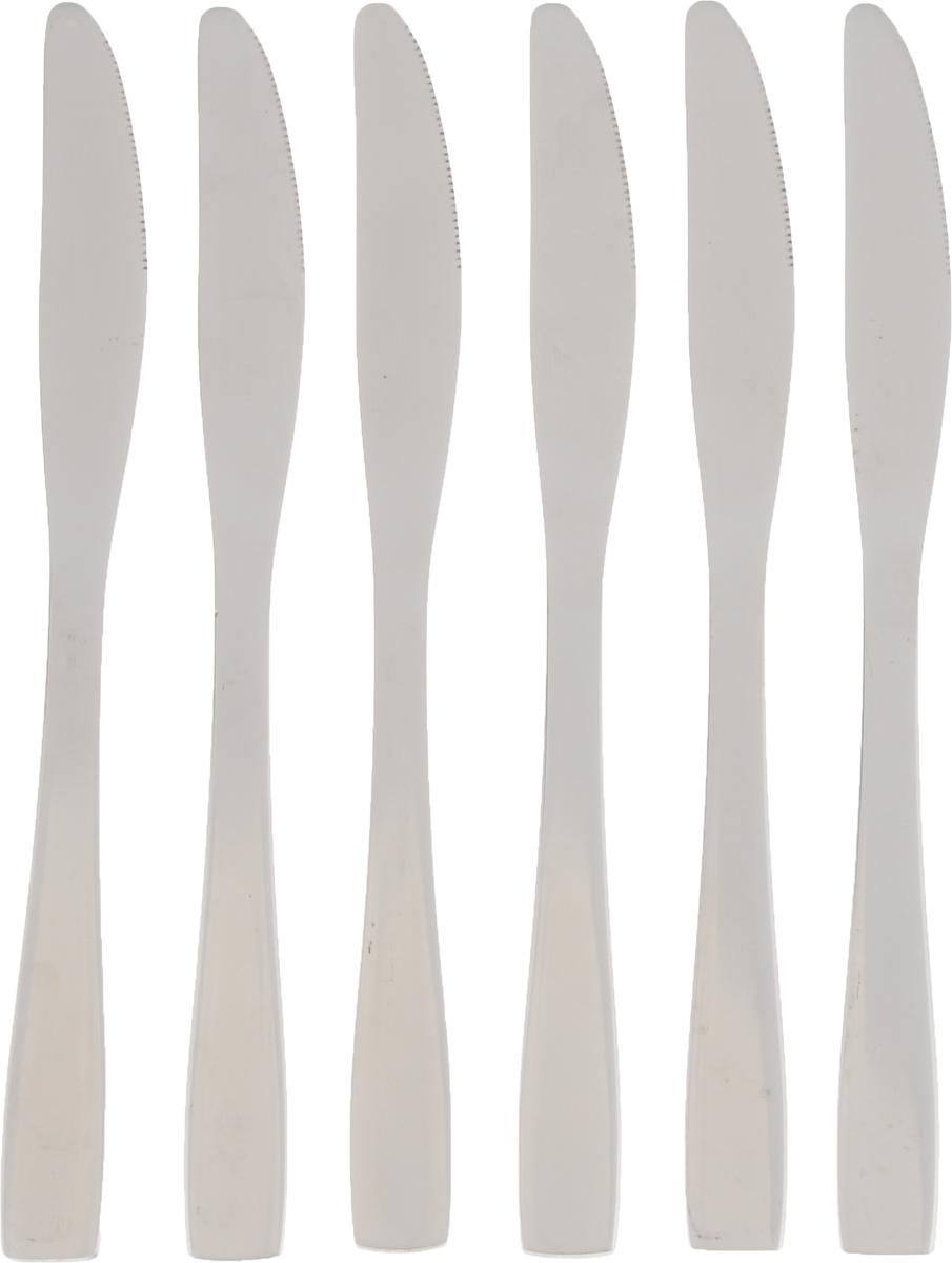 Набор столовых ножей Empire of Dishes Стайл, 6 штIM99-0344Набор столовых ножей Empire of Dishes Стайл выполнен из высококачественной нержавеющей стали в классическом стиле. Поверхность - гладкая и зеркальная. Лезвие - зубчатое. Столовые ножи Empire of Dishes Стайл прекрасно подходят для сервировки стола, как в домашнем быту, так и в профессиональных заведениях - кафе, ресторанах. Не рекомендуется мыть в посудомоечной машине и использовать в микроволновой печи. Длина ножа: 22,5 см. Длина лезвия: 9 см.