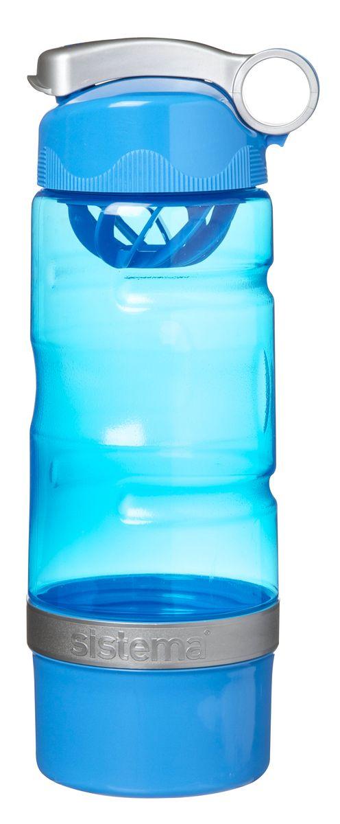 Бутылка питьевая Sistema, спортивная, цвет: голубой, 615 мл535_голубой