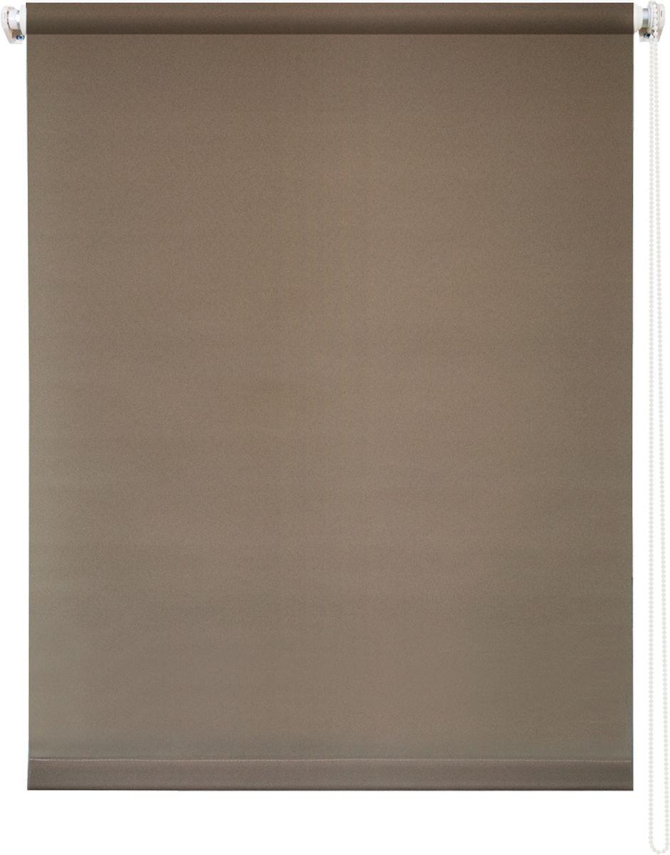 Штора рулонная Уют Плайн, цвет: молочный шоколад, 80 х 175 см62.РШТО.7518.080х175Штора рулонная Уют Плайн выполнена из прочного полиэстера с обработкой специальным составом, отталкивающим пыль. Ткань не выцветает, обладает отличной цветоустойчивостью и светонепроницаемостью. Штора закрывает не весь оконный проем, а непосредственно само стекло и может фиксироваться в любом положении. Она быстро убирается и надежно защищает от посторонних взглядов. Компактность помогает сэкономить пространство. Универсальная конструкция позволяет крепить штору на раму без сверления, также можно монтировать на стену, потолок, створки, в проем, ниши, на деревянные или пластиковые рамы. В комплект входят регулируемые установочные кронштейны и набор для боковой фиксации шторы. Возможна установка с управлением цепочкой как справа, так и слева. Изделие при желании можно самостоятельно уменьшить. Такая штора станет прекрасным элементом декора окна и гармонично впишется в интерьер любого помещения.