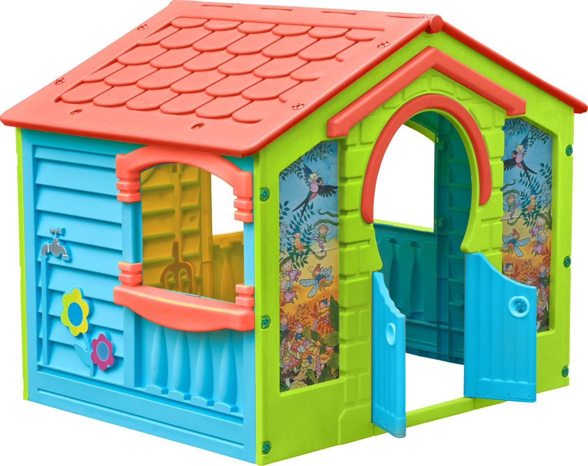 PalPlay Игровой домик Коттедж560_красный, синий, зеленыйИгровой домик PalPlay Коттедж - уникальная игрушка. В нем ребенок становится хозяином собственного сказочного мира. В процессе игры малыш примеряет на себя различные социальные роли, тем самым происходит первичный процесс адаптации. Когда ребенок играет с друзьями, у него улучшается коммуникативный процесс, что также важно для будущей жизни. Домик сделан из качественного пластика. Имеет красочный дизайн, имитирующий реальный дом. Удобная конструкция позволяет легко собирать домик, а также без труда размещать его как в квартире, так и на природе. Монтирование и демонтаж игрового комплекса осуществляется путем соединения отдельных частей домика с помощью пластиковых гаек. В собранном виде конструкция довольно крепкая и прочная. Домик имеет окна и двери. Предусмотрена надежная крыша, оберегающая малыша от воздействия солнечных лучей и внезапной непогоды. Для детей от 2-х лет и весом до 25 кг.