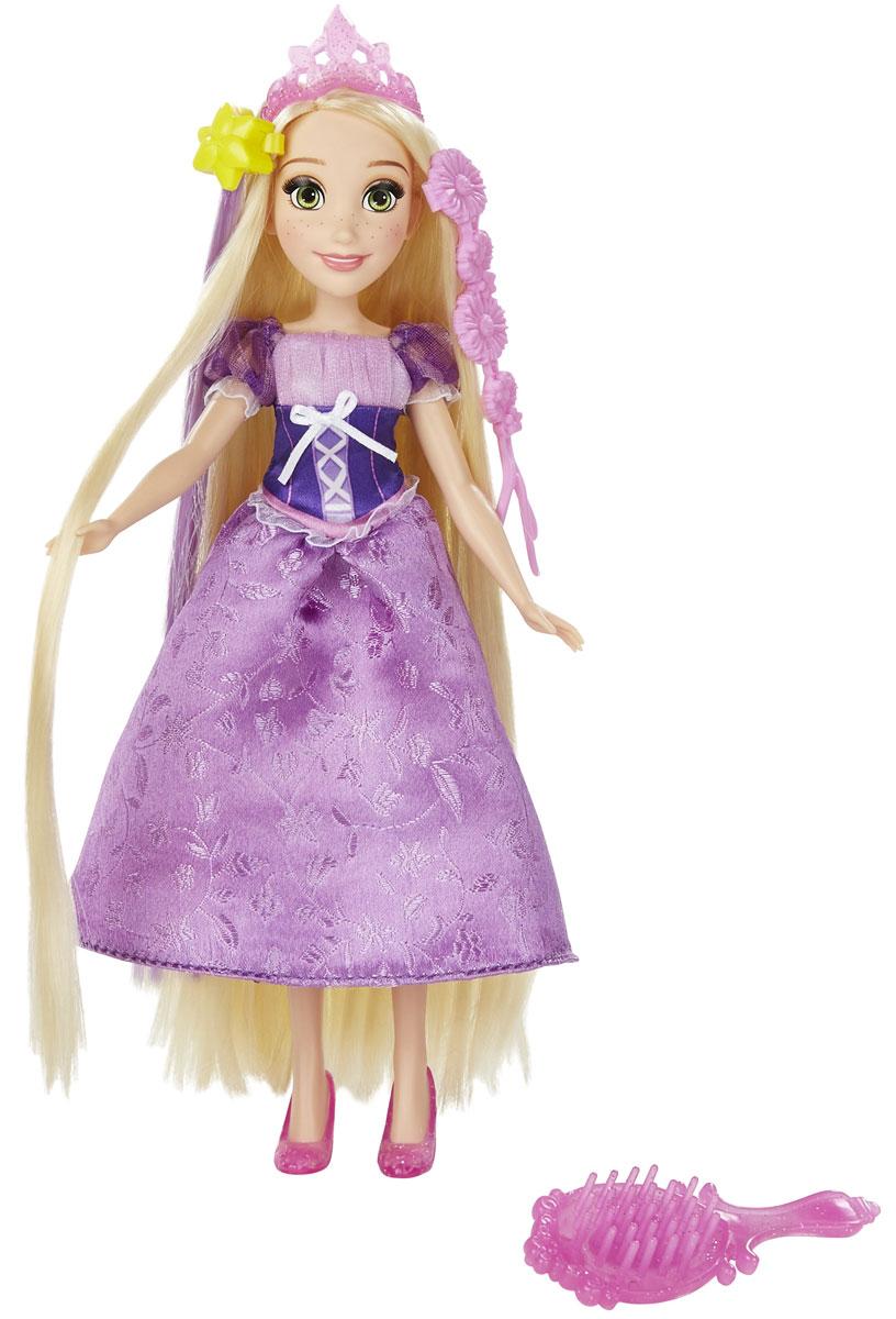 Disney Princess Кукла Рапунцель с длинными волосамиB5292_ B5294_РапунцельКукла Disney Princess Рапунцель с длинными волосами поможет вашей малышке окунуться в сказочный мир. Очаровательная куколка выполнена в виде героини диснеевского мультфильма Рапунцель. Одета она в классический наряд из мультфильма: длинное, украшенное вышивкой, платье с объемными рукавами- фонариками, на ногах у нее сиреневые туфельки, на голове - розовая диадема. Голова, руки и ноги куклы подвижны. Шикарные длинные волосы очень удобно расчесывать входящим в комплект гребнем с зеркальцем. Украсить прическу принцессы можно с помощью сиреневого локона, крепящегося с помощью заколки, а так же пластиковой косичкой с цветами (в комплекте). Украсить свои волосы с помощью этой косички сможет и сама маленькая хозяйка куклы. Ваша малышка с удовольствием будет играть с этой принцессой, воспроизводя сюжеты из мультфильма или придумывая различные истории. Игры с куклой способствуют эмоциональному развитию ребенка, а также помогают формировать воображение и...
